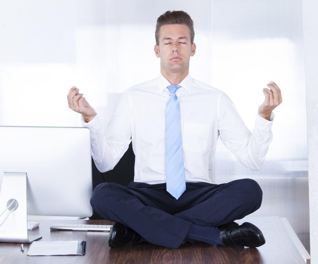 Businessman Practicing Yoga
